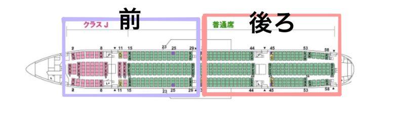 JALボーイング777-300(777772)-機内座席配置